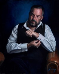 The Director by Vincent Kamp -  sized 24x30 inches. Available from Whitewall Galleries